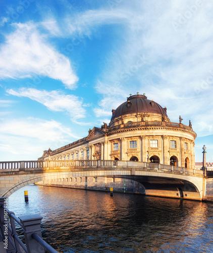 Naklejka Museum island in Berlin on river Spree