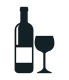 wine shop template isolated icon design, vector illustration  graphic