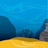 Under sea landscape icon. Sea life design. Vector graphic