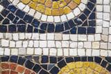 Roman polychrome mosaic detail
