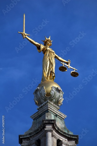 Poster Old Bailey - justice statue