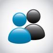 User icon. Social media design. Vector graphic