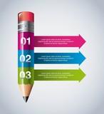 Pencil icon. Infographic education design. Vector graphic