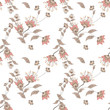 Seamless floral pattern background, flowers ornament textile Ill