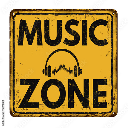 Music Zone vintage rusty retro sign
