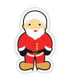Santa Claus patch isolated on white background