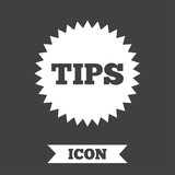 Tips sign icon. Star symbol. .