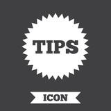 Tips sign icon. Star symbol. .