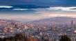 Morning Panorama of Barcelona. Catalonia, Spain