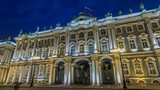 Winter Palace in Saint Petersburg timelapse hyperlapse