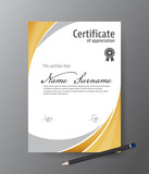 Vector template for certificate,modern diploma