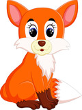 Cute fox cartoon