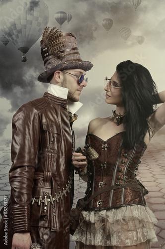 coppia steampunk fine 800 Poster