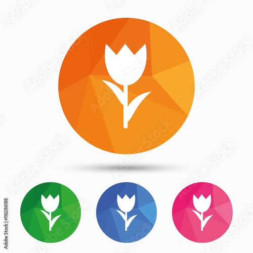 Zdjęcia na płótnie, fototapety, obrazy : Flower sign icon. Rose symbol.