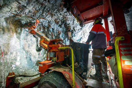 Gold mining underground Plakát