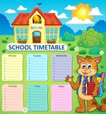 Weekly school timetable concept 2