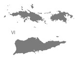 US Virgin Islands Map grey - 116330150
