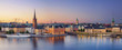Leinwanddruck Bild - Stockholm.Panoramic image of Stockholm, Sweden during sunset.