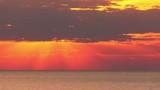 4k.Sea  morning sunrise. Timelapse Landscape without birds.