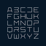 Thin line style modern uppercase modern font