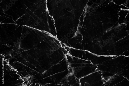 black marble have white pattern texture, use for product design.