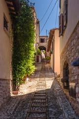 Fototapeta zakątki i ulice pięknych włoskich miast w Umbrii.