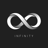 Infinity symbol. Limitless sign vector logo design template.