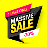 Massive sale banner template