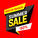 End of season summer sale template banner