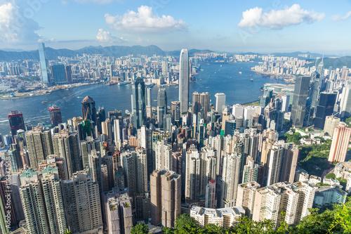 Poster Hong Kong cityscape