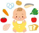 赤ちゃんと食べ物