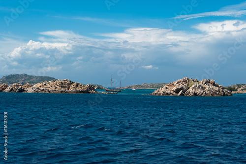 Deurstickers Toscane Sardegna, spiaggia rosa di Budelli