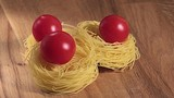 Egg pasta with cherry tomatoes
