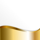Gold auf Waben-Hintergrund