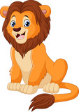 """Cute lion sitting isolated on white background 113065381,DELETED 116489866,Park of Pateira de Fermentelos"""""""