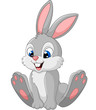 Happy bunny cartoon isolated on white background