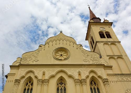 Poster Saint Leonard Church in Novo Mesto, Slovenia