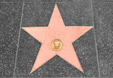 Fototapety Star on the walk of fame with copy space