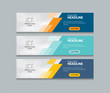 abstract web banner design template