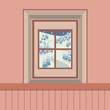 Natural Landscape View Through The Window Vector Illustration. - 116474755