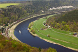 Elbe river from konigstein castle