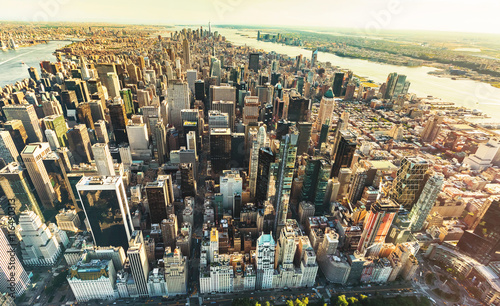 Aerial view of Manhattan looking south