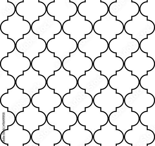 Quatrefoil geometric seamless pattern - 116491958