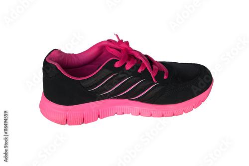 Tuinposter Gymnastiek pink sport shoe isolated