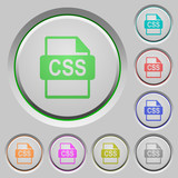 CSS file format push buttons