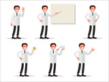 Set of characters dentist in various activities. Perfect for information poster