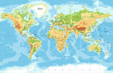 Physical World Map - 116541553