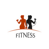 Fitness Club logo depicting women