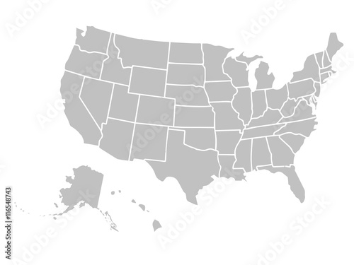 blank similar usa map isolated on white background united states of america country vector
