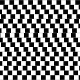 Cafe wall illusion. Geometrical optical illusion in which the parallel straight dividing lines between staggered rows with alternating black and white bricks appear to be sloped. Illustration. - 116553390